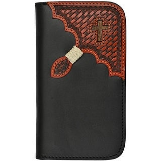 Tony Lama Cell Phone Case Leather Samsung Galaxy S4 Black TLPH017