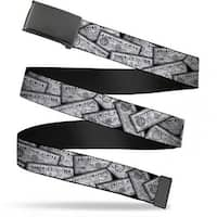 "Blank Black 1.25"" Buckle Harry Potter Potion Labels Webbing Web Belt 1.25"" Wide - M"