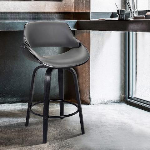 Mona Modern Faux Leather Swivel Barstool