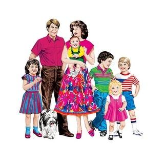 Caucasian Family Flannelboard Set