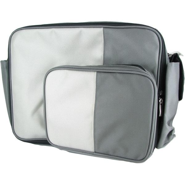O Yikes Grey Messenger XL Bag