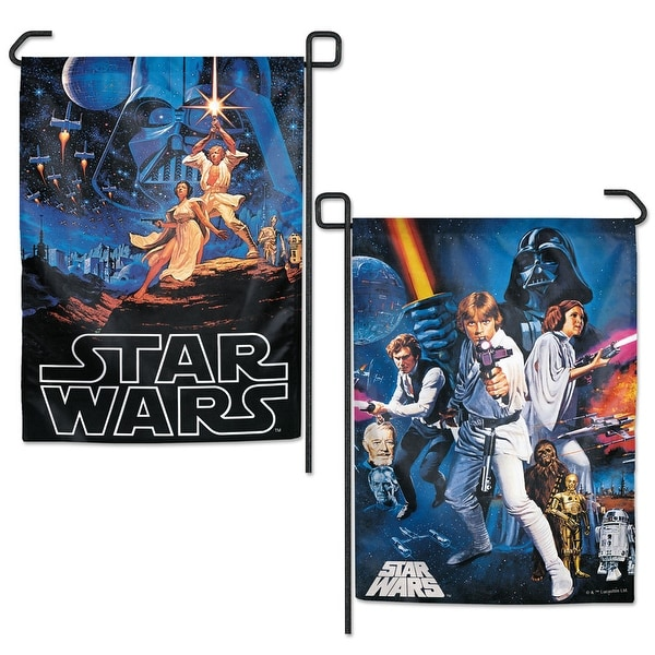 """Star Wars Episode 4-6 Characters 2-Sided 12.5"""" x 18"""" Garden Flag"""