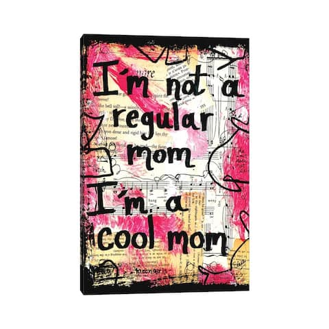"""iCanvas """"Cool Mom Mean Girls Quote"""" by Elexa Bancroft Canvas Print"""