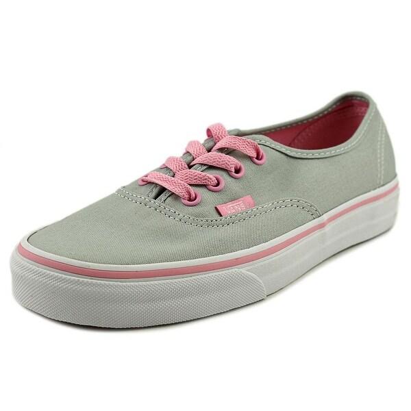 Vans Authentic Women Round Toe Canvas Gray Skate Shoe