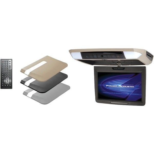 """Power Acoustik Pmd-112 11.2"""" Ceiling-Mount Swivel Dvd Entertainment System With Ir & Fm Transmitters & 3 Interchangeable Skins"""