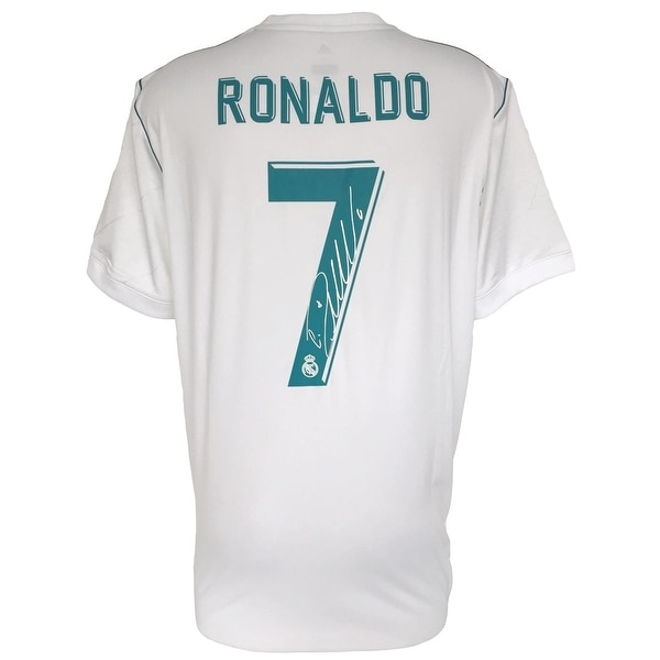 huge selection of 2dfb7 1fc2b Cristiano Ronaldo Signed 2017/18 Adidas Real Madrid Soccer Jersey Icons