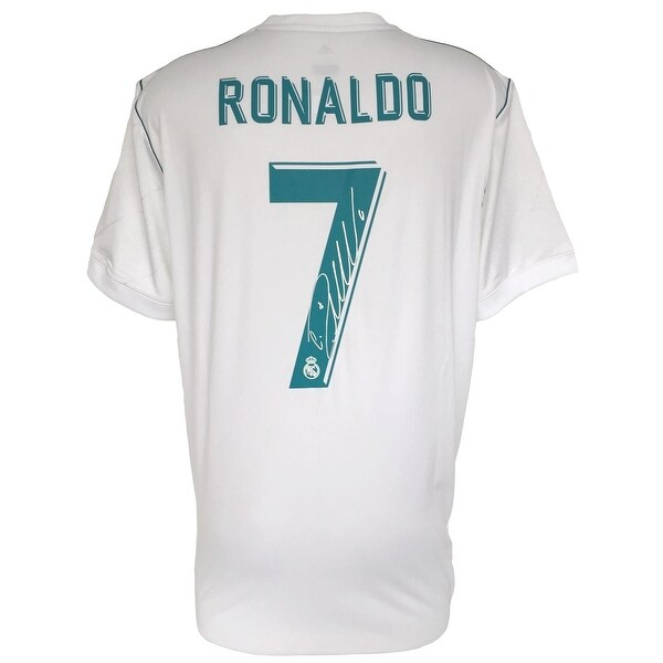huge selection of cc4e3 85298 Cristiano Ronaldo Signed 2017/18 Adidas Real Madrid Soccer Jersey Icons