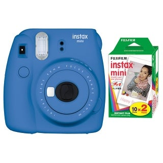 Fujifilm Instax Mini 9 (Cobalt Blue) w/Color Film (2-Pack)