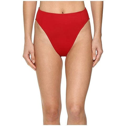 KAMALIKULTURE by Norma Kamali Women's Corset Bottom Red Swimsuit Bottoms Sz: L