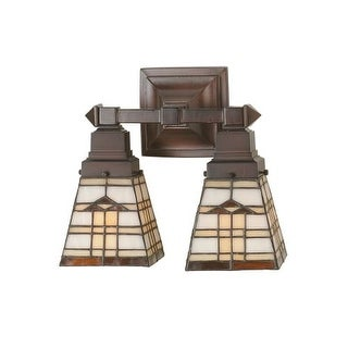 "Meyda Tiffany 98200 12"" W Arrowhead Mission 2 Light Wall Sconce"