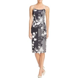 Black Halo Womens Party Dress Sleeveless Printed