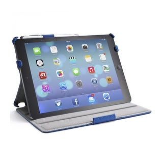 i-Blason-Apple iPad Air Smart Case Slim Folio Book Shell Stand Cover-Blue