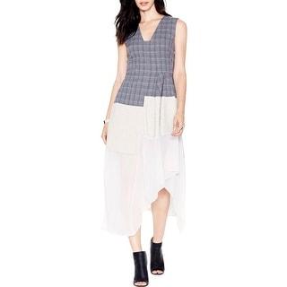 Rachel Roy Womens Casual Dress Asymmetric Mixed Media