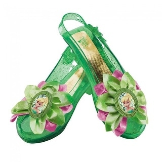 Disney's Peter Pan Fairy Tinker Bell Girls Sparkle Shoes One Size