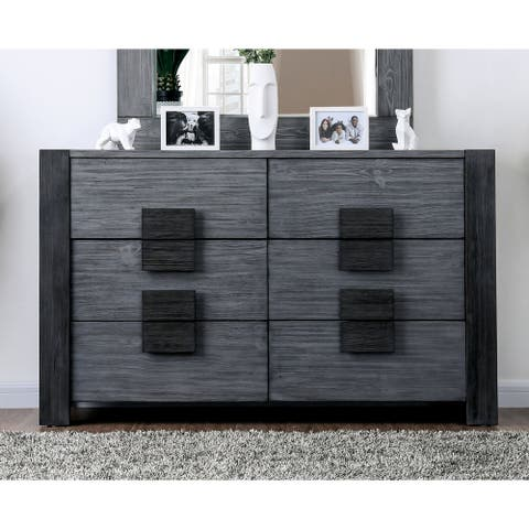 Furniture of America Fist Contemporary Wood 6-drawer Dresser