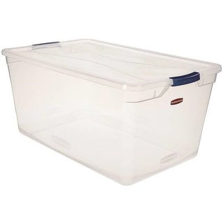 Rubbermaid RMCC950001 Latching Storage Container, 95 Quart