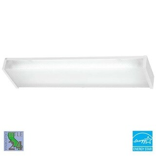Minka Lavery ML 1010-PL 2 Light Energy Star Ceiling Fixture from the All Purpose Fluorescent Utility Collection