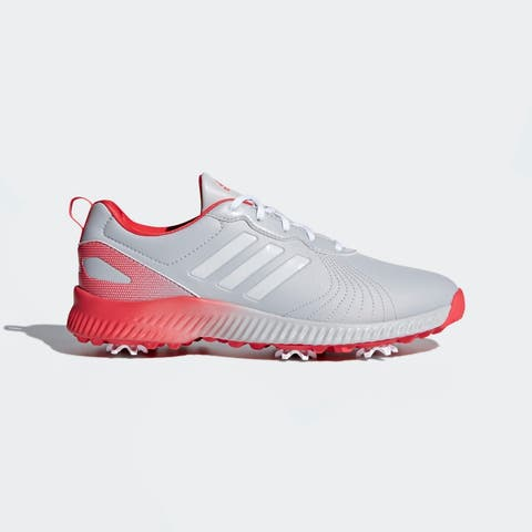 New Adidas Women's Response Bounce Grey/White/Real Coral Golf Shoes F33666