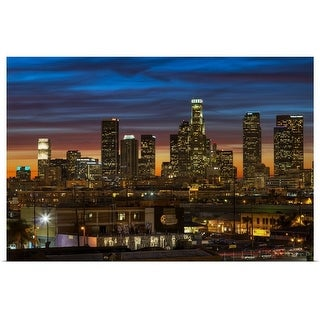"""Downtown of Los Angeles at Sunset."" Poster Print"
