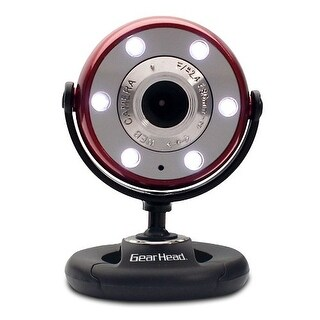 Gear Head WCF2750HDREDM Quick 5.0 MP WebCam with 720P HD Video (Red)