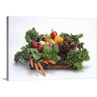 Premium Thick-Wrap Canvas entitled Fresh salad vegetables - Multi-color