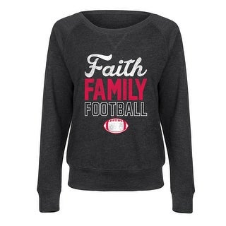Faith Family Football - Ladies French Terry Pullover