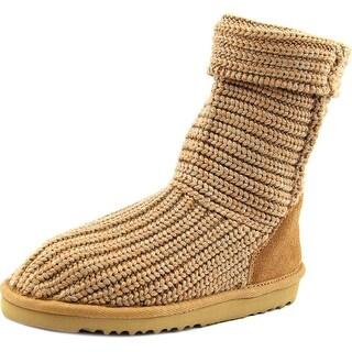 Ugg Australia Crochet Round Toe Canvas Winter Boot