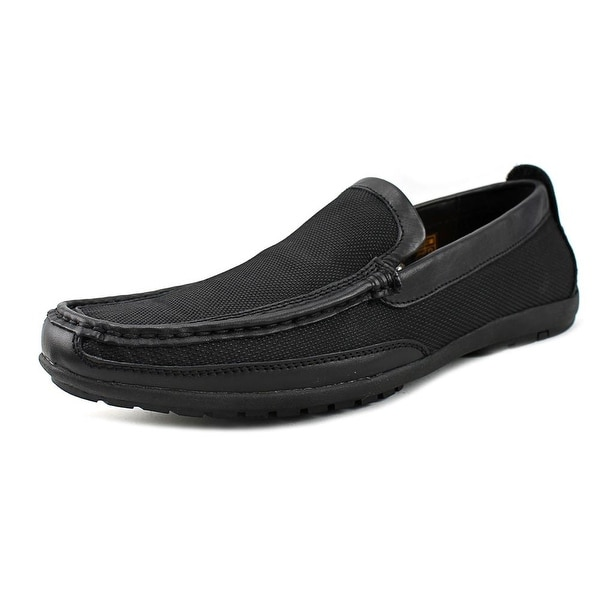 Robert Wayne Jackson Men Square Toe Leather Black Loafer