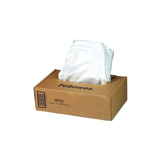 Fellowes Powershred Shredder Waste Bags For 90S, 99Ci, 99Ms, Automax 200C, And Automax 130C, 100 Bags