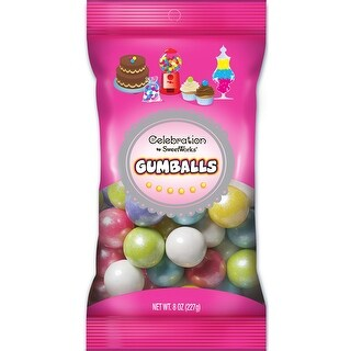 Celebrations By Sweetworks Gumballs 8oz-Shimmer (TM) Spring Mix