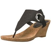 White Mountain Womens Aida Fabric Open Toe Casual Slingback Sandals