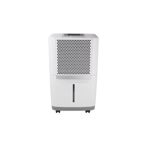 "Frigidaire FAD504DWD 16"" Wide 50 Pint Energy Star Certified Freestanding Dehumidifier with Dual Speeds - White"