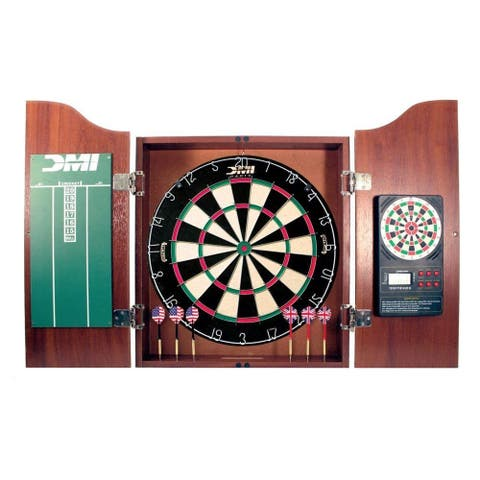DMI Sports Deluxe Dartboard Cabinet Set / CABSETCH