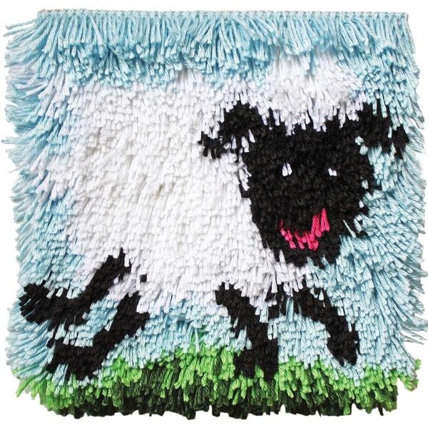 "Shaggy Latch Hook Kit 12""X12""-Shaggy Sheep"