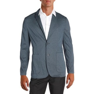 Perry Ellis Mens Two-Button Blazer Printed Slim Fit