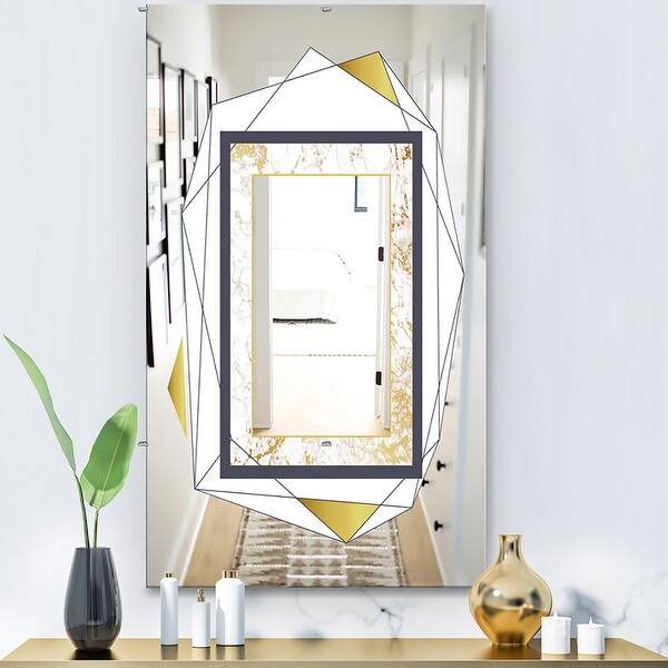 Designart Capital Gold Essential 14 Glam Mirror Accent Or Vanity Mirror On Sale Overstock 28003956