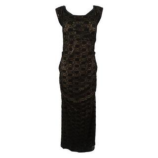 Alex Evenings Women's Off  The Shoulder Sequined Lace Gown - Black