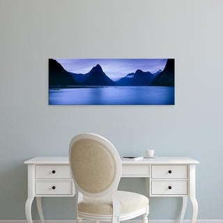 Easy Art Prints Panoramic Images's 'Mountains at dawn, South Island, New Zealand' Premium Canvas Art