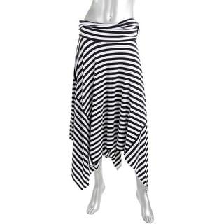 DKNY Womens Asymmetrical Skirt Asymmetrical Stretch