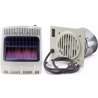 Mr. Heater Vent Free Blue Flame Natural Gas Heater & Blower Bundle