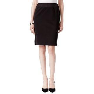 Tahari ASL Ponte Quilted Waist Pencil Skirt - 6