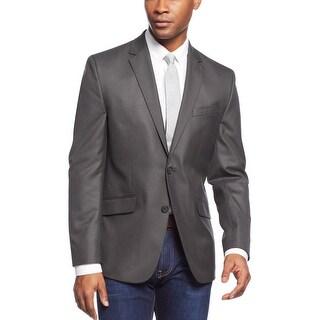 Kenneth Cole New York Black/Grey Mini Check Slim Fit Sportcoat 36 Short 36S