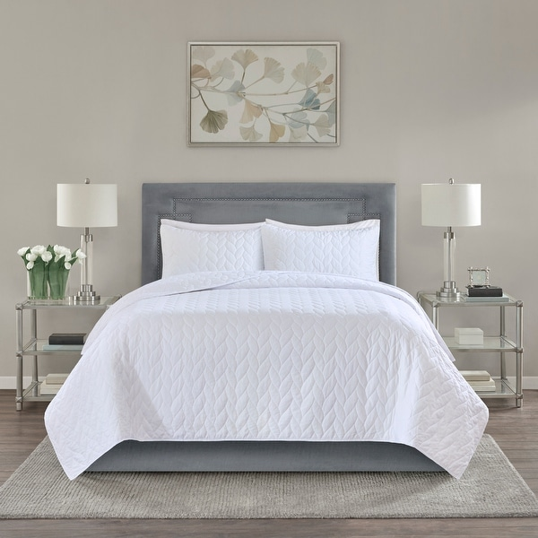 Madison Park Addie Reversible Coverlet Set. Opens flyout.