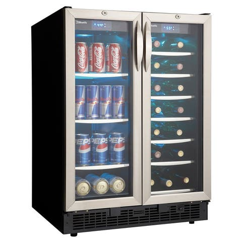 "Danby DBC2760 24"" Wide 27 Bottle Capacity Built-In Beverage Center with Dual Temperature Zones, 60 Can Capacity and Locking"
