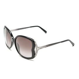 John Galliano Women's Oversized Frame Sunglasses Black/Silver - Small