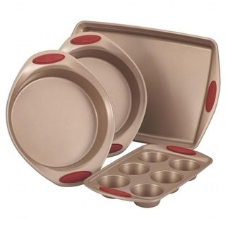 Rachael Ray 52386 52386 4pc bakeware set - red
