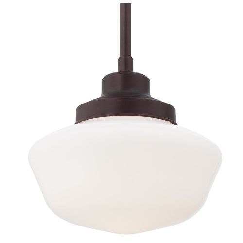 "Minka Lavery 2254-576 1 Light 10.75"" Height Indoor Full Sized Pendant in Brushed Bronze"