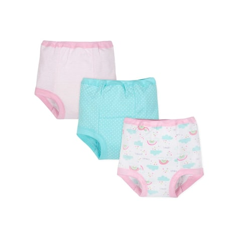 3-Pack Girls Organic Rainbow Training Pants