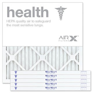 AIRx Filters Health 16x16x1 Pleated Air Filter Comparable to Filtrete Healthy Living MPR 1500 1550 1900 2200 2400, 6-Pk