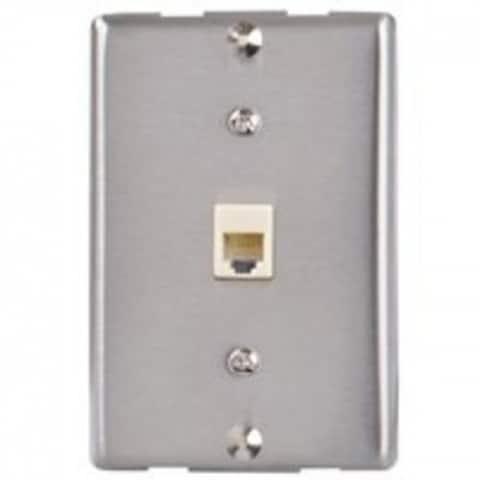 Zenith TW1001WPS Single Wall Phone Mount, Silver